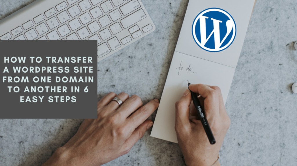 transfer wordpress from one server to another