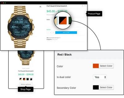 dual-color variation